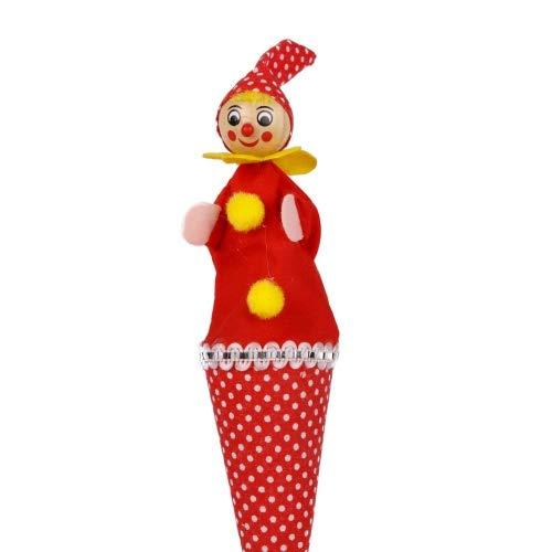Brink Holzspielzeug Tütenkasper Clown rot