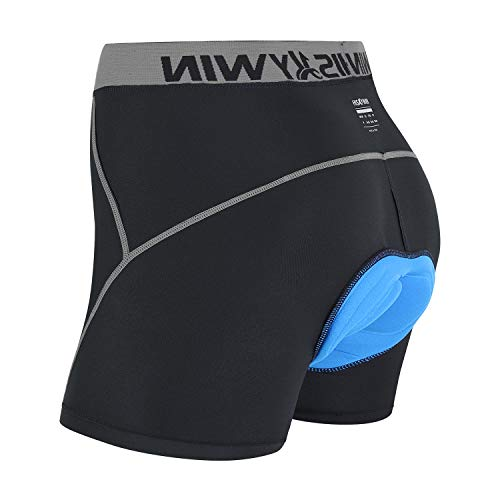 Men/'s Cycling Shorts Underwear Quick Dry Pro Mountain Bike Padded Briefs Black