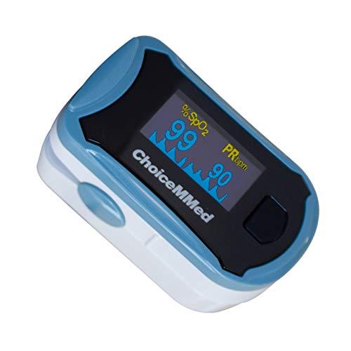Mobiclinic, MD300C29, Pulsioxímetro de dedo, Pulsómetro de dedo, Oxímetro de dedo, Frecuencia cardíaca y SpO2, Pantalla OLED