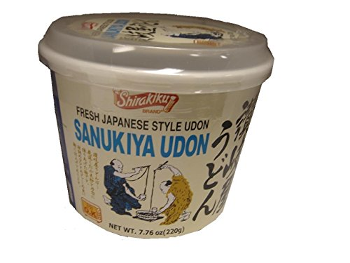 Shirakiku Udon Cup Nama Sanukiya, 7.76-Ounce Units (Pack of 6) (Nama Sanukiya)