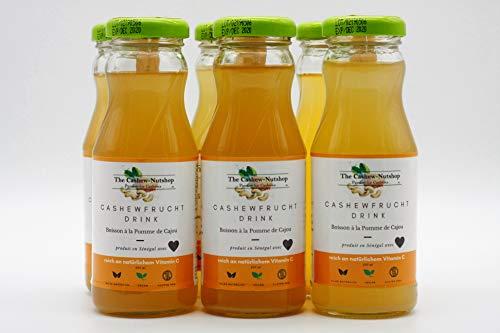 Cashewfrucht Drink (6x200ml) | Einzigartige Frucht | Nur bei uns | Exotic Pure | Vegan | Ohne Konservierungsstoffe | Ohne Farbstoffzusatz | Ohne Zusatz von Aromen