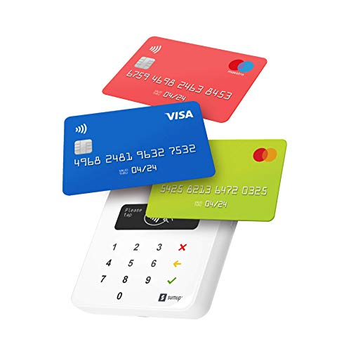 SumUp Air mobile card terminal for contactless payments with Credit & Debit Card, Apple & Google Pay - NFC RFID money card reader - practical credit card reader