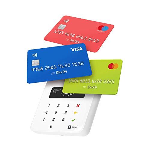 SumUp mobiles Kartenterminal zum bargeldlosen Bezahlen mit EC Karte, Kreditkarte Apple & Google Pay und mehr - NFC RFID Geldkartenleser - Praktischer Credit Card Reader - Kontaktlose Kartenzahlung