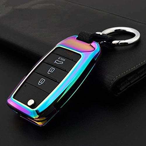 Funda con mando a distancia para llave de coche de aleación de zinc, para Kia Rio K2 Sportage 2017 2018 Ceed Optima K5 Cerato K3 K4 Sorento Carens Funda para llave automática para coche A Color