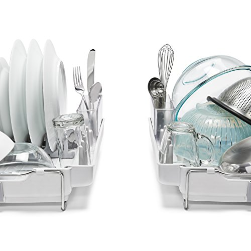 OXO Good Grips Convertible Foldaway Dish Rack, Stainless Steel