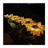 Lihuzmd Luces solares para jardín, Lámpara de decoración de...