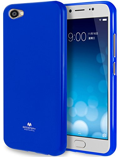 Goospery Pearl Jelly for Vivo X9 Plus Case (2016) with Screen Protector Slim Thin Rubber Case (Navy) VIVOX9P-JEL/SP-NVY