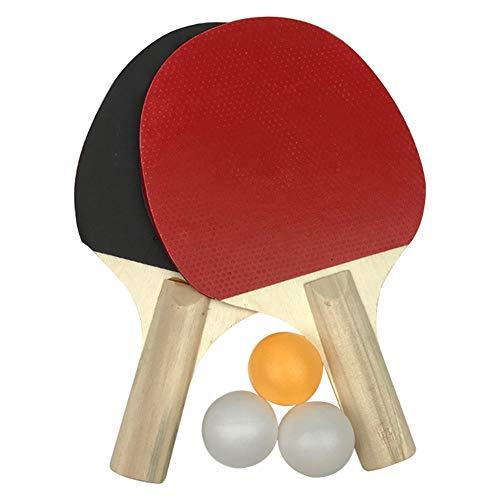 ZSooner Juego de tenis de mesa,Juego de ping pong,Equipo deportivo de patio de recreo Tenis de mesa 3 bolas 2 raquetas