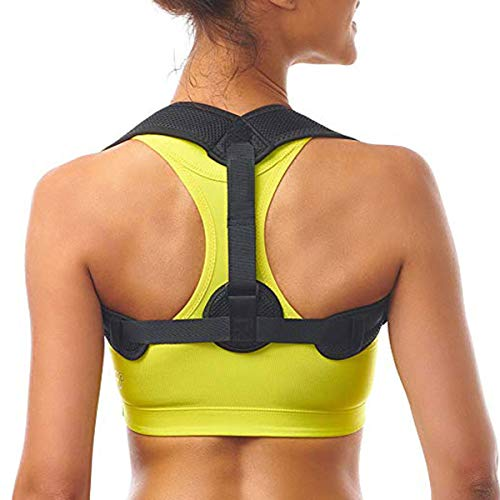 Posture Corrector for Women & Men - Adjustable Upper Back Straightener Correction Slouching Brace - Comfortable Posture Trainer for Pain Relief from Neck, Prevent Humpback, Relieve Back Pain