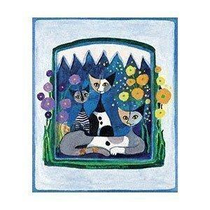 Fertig-Bild - Rosina Wachtmeister: Tea Time 50 x 60 cm Katzen Kult
