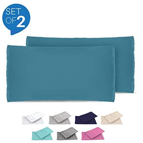 Dreamzie - 2er Set Kissenbezug 50x70 - Bezüge Blau - Kissenbezüge Mikrofaser (100% Polyester) - Kopfkissenbezug sehr Weich