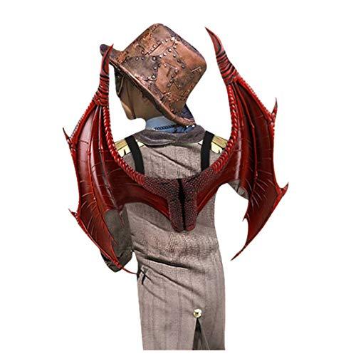 Drachenflügel Für Kinder, 3D Wawel Drachen Dekoration Halloween Weihnachten Flügel Lustige Kinder Cosplay Set Party Spielzeug verkleiden Sich Dragon Wings