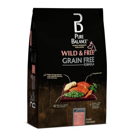 Pure Balance Wild & Free Grain Free Salmon & Pea Dry Dog Food, (11 lbs)