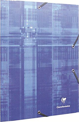 Clairefontaine 67020C Sammelmappe (mit Gummizug, DIN A4, 21 x 29,7 cm, mit 3 Klappen) 1 Stück farbig sortiert
