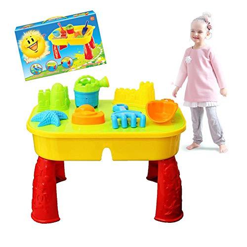 Zand- En Watertafel Met Deksel En Accessoires - Buitenspeeltuin Zandbak Voor Kinderen