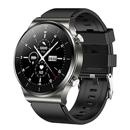 ZGZYL TM01 Smart Watch Llamada Bluetooth, Reloj Deportivo Impermeable IP68 con Presión Arterial Y Monitor De Frecuencia Cardíaca, Adecuado para El Reloj Inteligente De iOS Android,H