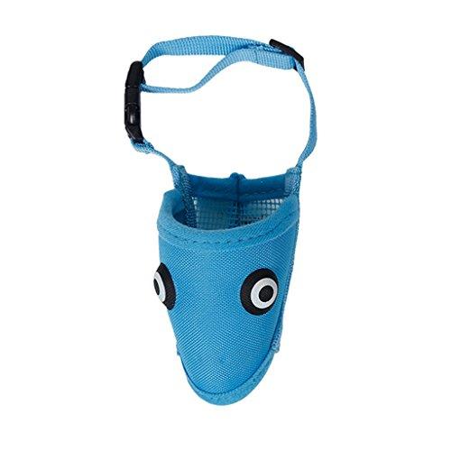 Verstellbare Hund Maulkorb Hundemaulkorb für Kleine Hunde - Blau, S