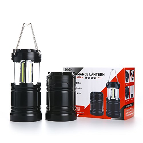 2 Pcs Military Grade Camping Lantern Tactical Lantern COB LED with Magnetic Base