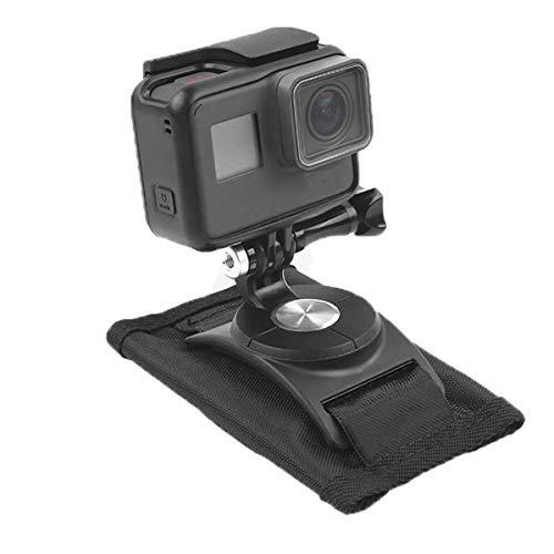 Techvia Halterung für Fotoapparat für Schultern, verstellbare Schultertasche und Halterung für Rucksack mit Klettverschluss, für Sport GoPro Hero8/7/6/5osmo.
