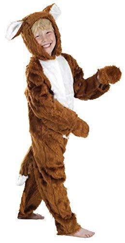 Jungen Mädchen Kinder Kinder Fantastic Mr Fox Einteiler Buch Woche Tier Kostüm Kleid Outfit - Braun, 4-6 Years (116cms)
