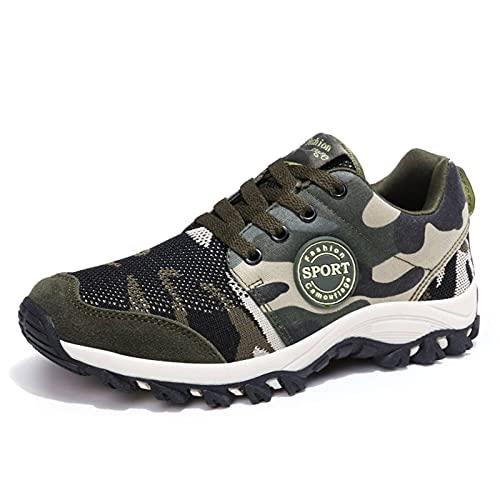 N\C Escalada al aire libre de los hombres de primavera y otoño casual zapatos de deportes al aire libre Militar entrenamiento corriendo marea zapatos volar tejido camuflaje par zapatos