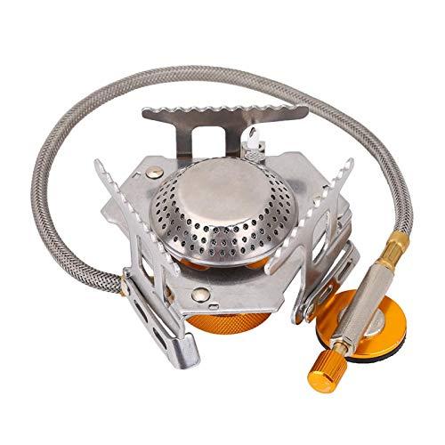 FECAMOS Hornilla portátil de la Estufa de la Mini Estufa de Mayor Seguridad, para la Estufa de Gas Que acampa Que acampa