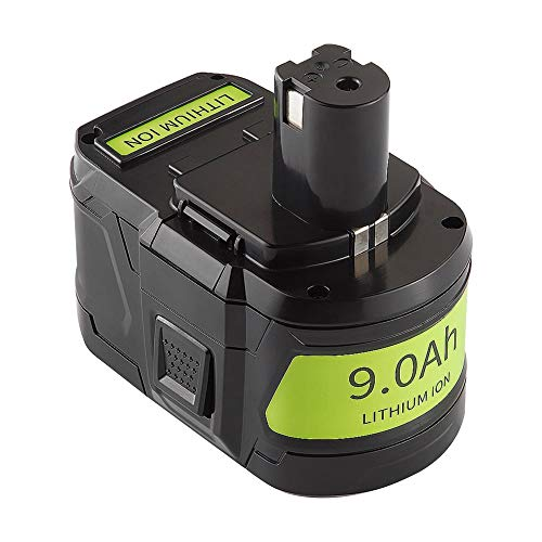 Jialitt 18V 9.0Ah Replacement Battery for Ryobi 18Volt Cordless Power Tools Lithium-Ion Battery P102 P103 P105 P107 P108 P109