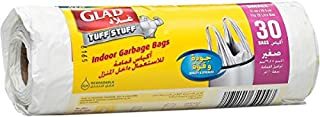 Glad Tuff Stuff Garbage Small White Handle Bags, 20 L