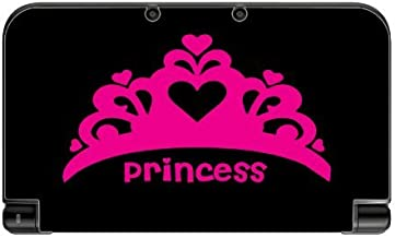 Princess Crown Pink Tiara Black Background Vinyl Decal Sticker Skin by Moonlight Printing for New 3DS XL 2015