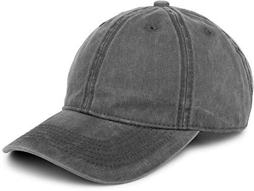 styleBREAKER 6-Panel Vintage Cap im Washed, Used Look, Baseball Cap, verstellbar, Unisex 04023054, Farbe:Anthrazit