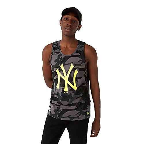 New Era York Yankees Tanktop MLB Shirt Baseball Fanshirt Trikot Camouflage Schwarz - M