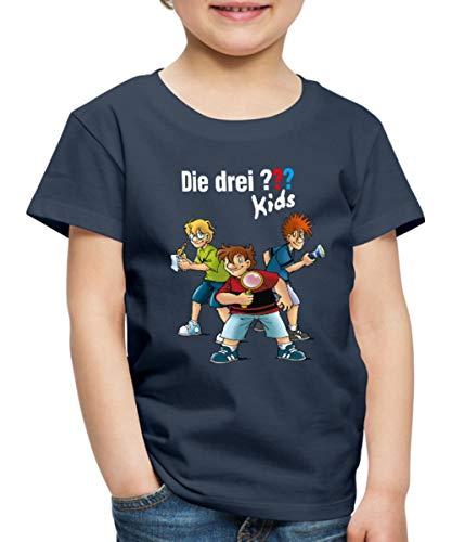 Die DREI Fragezeichen Kids Detektive Spürnasen Kinder Premium T-Shirt, 122-128, Navy