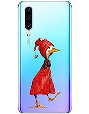 Oihxse Funda para Huawei P30 Lite/Nova 4E Transparente, Estuche con Huawei P30 Lite/Nova 4E Ultra-Delgado Silicona TPU Suave Protectora Carcasa Océano Animal Serie Bumper (C6)