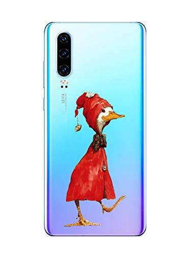 Oihxse Funda para Huawei P40 Pro Plus Transparente, Estuche con Huawei P40 Pro Plus Ultra-Delgado Silicona TPU Suave Protectora Carcasa Océano Animal Serie Bumper (C6)