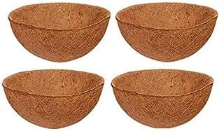 COIR GARDEN Coco Fiber Hanging Planter Pots, Coir Basket Liner, 12 Inch, 4 Pieces