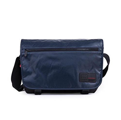 Hedgren Motto Large Messenger Bag, 13' Tablet Pocket, 15.7 x 11 x 4.3 Inches, Unisex, Blue Night