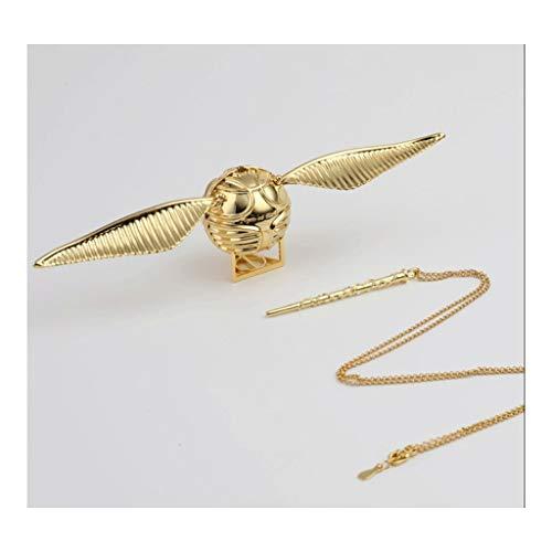 FOLA Harry Potter Caja de anillos de oro Snitch creativa, el mejor regalo para mujeres, niñas y niños organizador de joyas (color: oro)