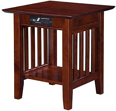 Peachy Amazon Com Leick Furniture Mission Drawer End Table Solid Creativecarmelina Interior Chair Design Creativecarmelinacom