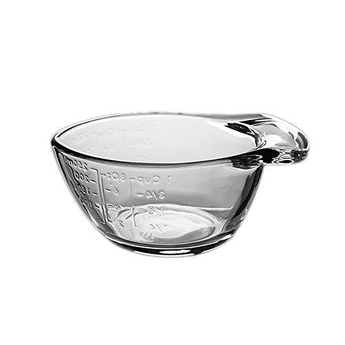 HARVESTFLY Jarras medidoras de cristal de 250 ml, tazas de cocina, tazas...