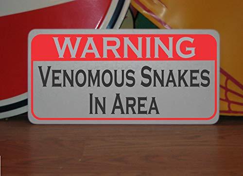 Générique Panneau en métal « Warning Venimus Snakes in Area » pour Terrain de Golf, Terrain de Golf, Terrain de randonnée, Parc, etc.