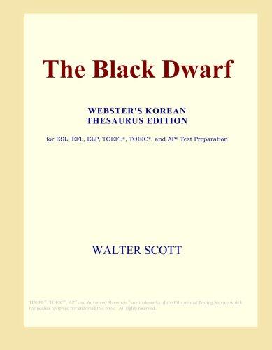 The Black Dwarf (Webster's Korean Thesaurus Edition)