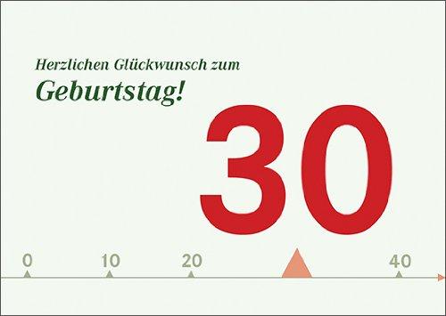 Anja Vogel in 5-delige set: Designer verjaardagskaart voor 30e verjaardag: Gefeliciteerd voor verjaardag.
