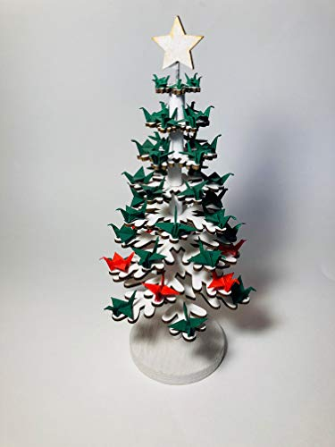Origami, Árbol de Navidad, Christmas Tree, 48 mini grullas en diferentes tamaños, Senbazuru, Eneko Tapia
