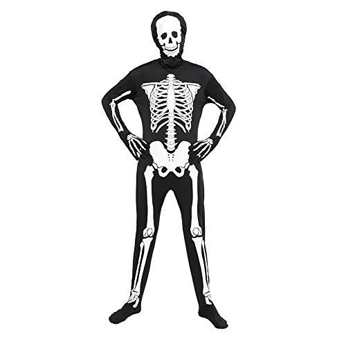 EraSpooky Costume Scheletro Uomo Halloween Tuta Luminosa Collant