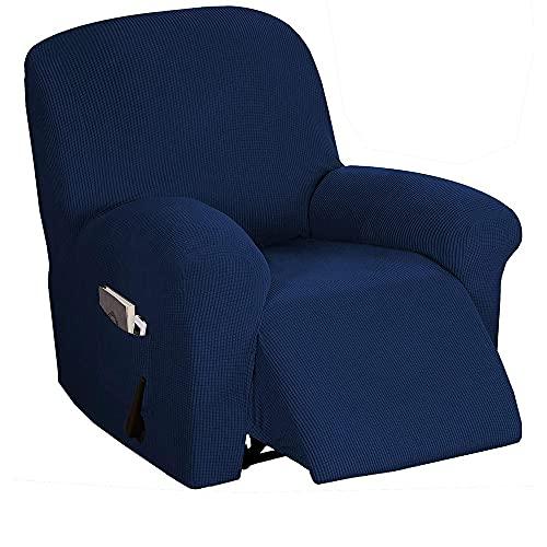 Funda De SillóN,Funda De Sofa Tapa de Silla reclinable Antideslizante Protector Elástico Todo Incluido Masaje Sofá Cubierta de sofá para Wingback Sillón Sofá Decoración (Color : Style 3)