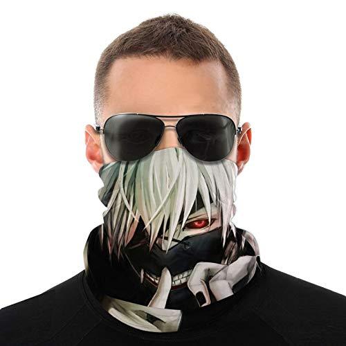 Tokyo Ghoul - Funda protectora para cuello, antideslizante, ligera, transpirable, para sol, viento, polvo, bandana, pasamontañas