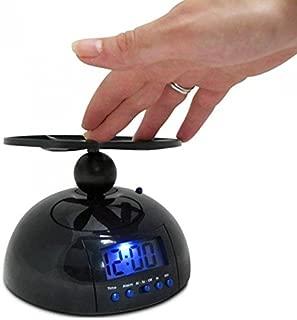 ZHENWOFAI フライングアラームクロックスヌーズLCDデジタル目覚まし時計UFOヘリコプター目障りな目覚まし時計 時計