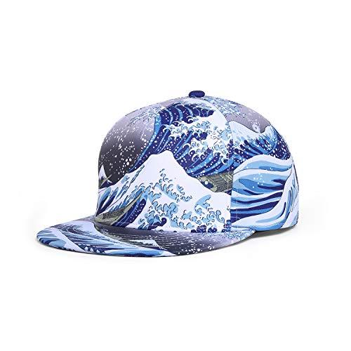 NUZADA Snapback Hats for Men Hip Hop Baseball Cap Straight Brim Adjustable Gray