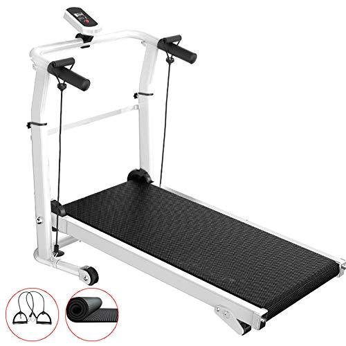 QLGRXWL Tragbare Lauf-Jogging-Maschine, mechanische Laufband-Fitnessgeräte, Heim-Mini-Laufmaschine - Gewichtsverlust stumm