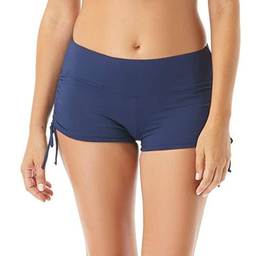 Beach House Blake Adjustable Side Tie Bikini Swim Short — Full Coverage Bottom, Admiral, 10